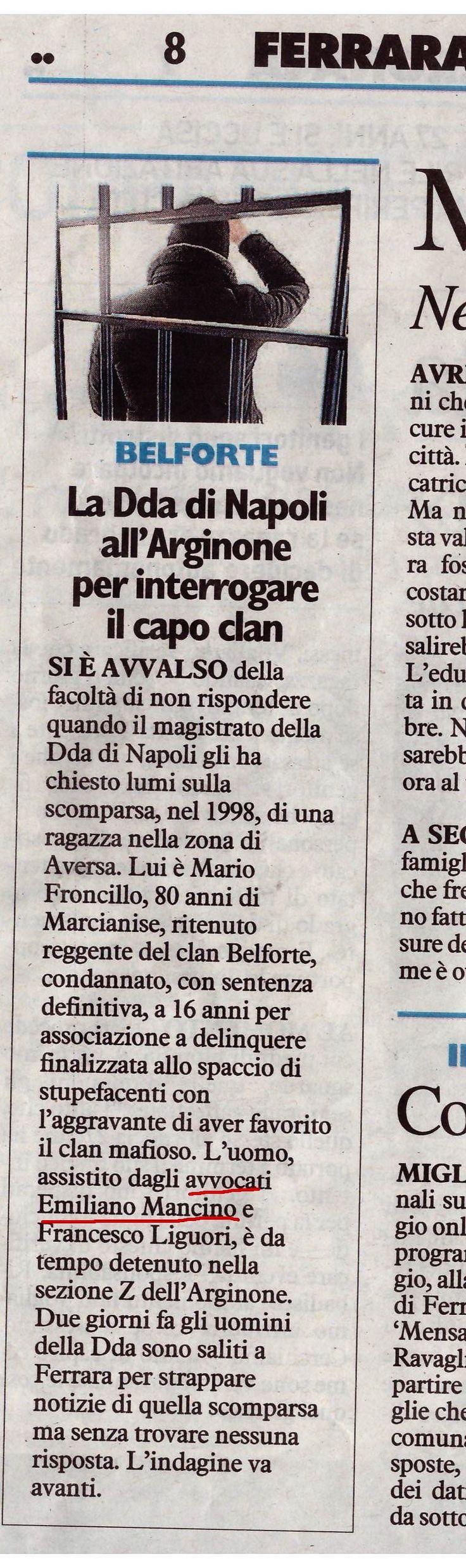 #StudioLegaleMancino #Ferrara #Penale #DDA #Procura #Antimafia #Napoli #Interrogatorio #FacoltàDiNonRispondere