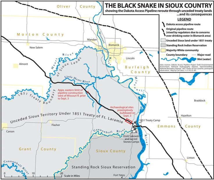 North Dakota pipeline: How it favours white community over native neighbours - in one map | The Independent