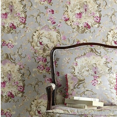 French Linen FabricsWallpaper Lov, Decor, Puree Linens, Floral Wallpapers, Pattern, French Linens, Wall Paper, Chairs, Linens Fabrics