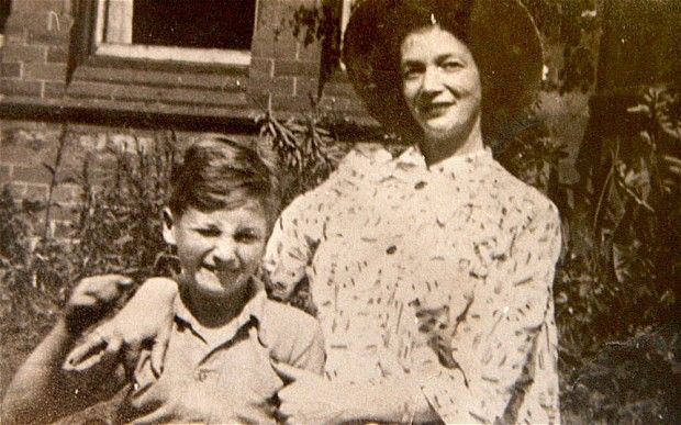 A young John LENNON with his mother, Julia