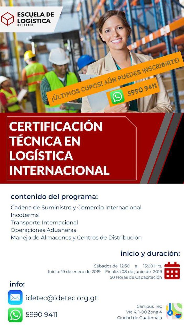 Escuela De Logistica De Idetec Logistica Internacional Comercio Internacional Y Aduanas Escuela