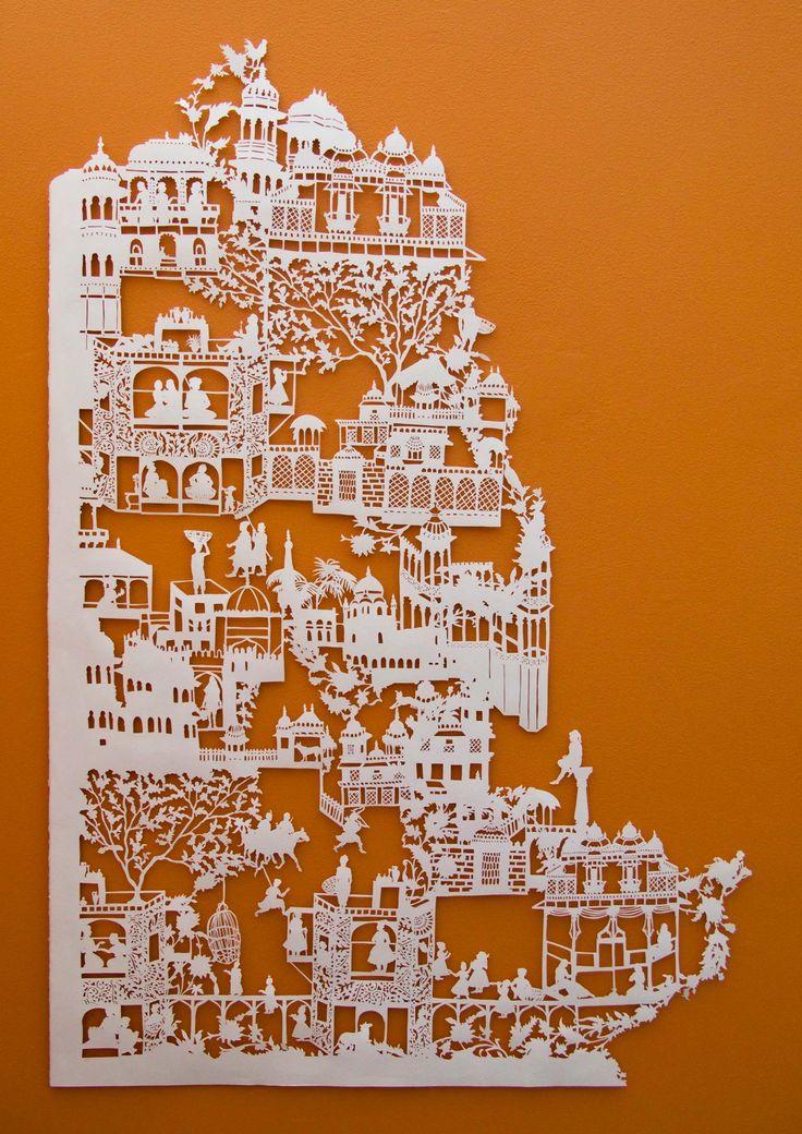 127 best beautiful paper art images on pinterest paper for Beautiful paper cutting art