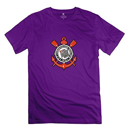 Men Sport Club Corinthians Paulista Customized Retro Purple T-Shirts By Mjensen ** Learn more by visiting the image link.