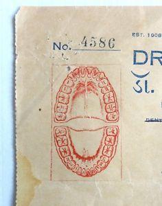 India 1938 illustrated billhead DR. GAJJAR'S DENTAL HOSPITAL Rajkot