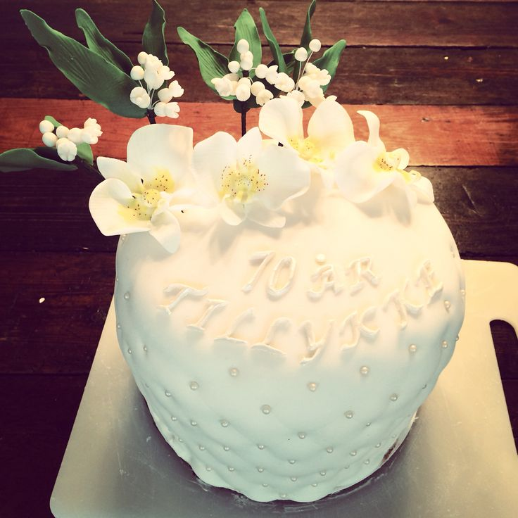 70 års fødselsdagskage til min mor