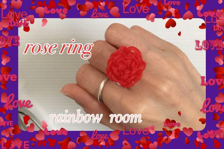 FUN FUN LOOM rose ring  レインボールーム  薔薇の指輪  rainbow room - YouTube