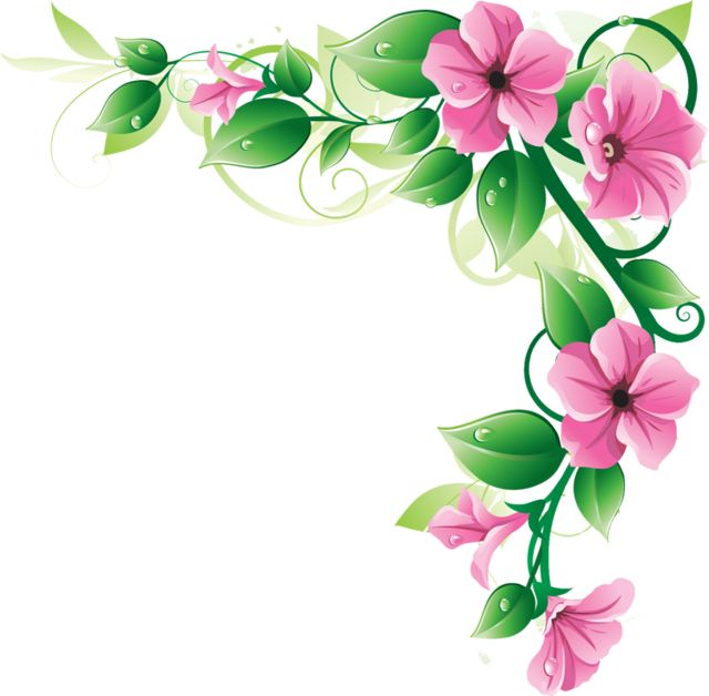 Pink Flower Border ClipArt | Clipart Panda - Free Clipart Images More