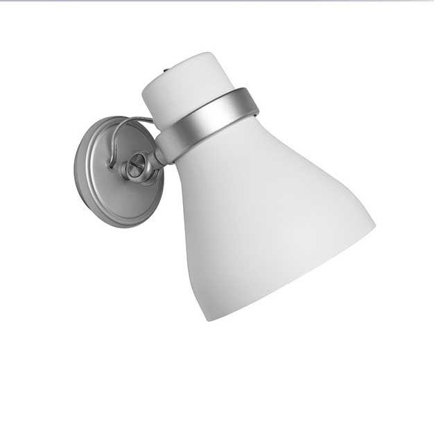 puntoluce oslo arandela orientavel refletor anodizado marca metalarte espanha