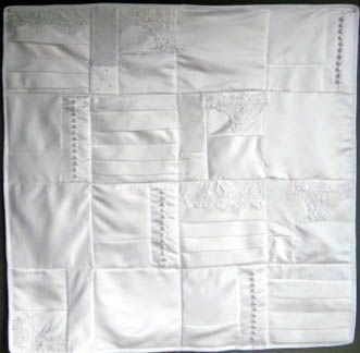 Quilt made from wedding dress!- what a good idea and awesome way to use your dress more than once!