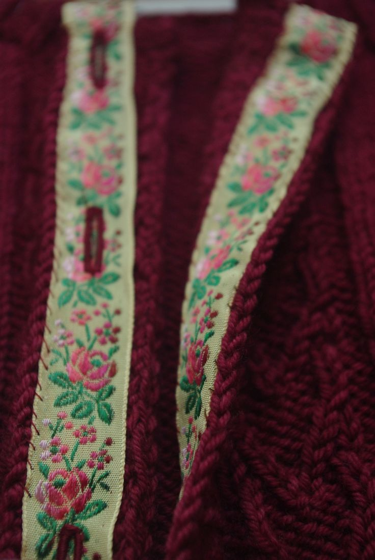Adding A Ribbon Backing to Your Knit Button Band