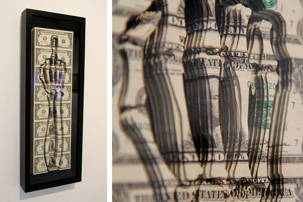 Sculpted Paper Skull Made of 11,000 One-Dollar Bil…