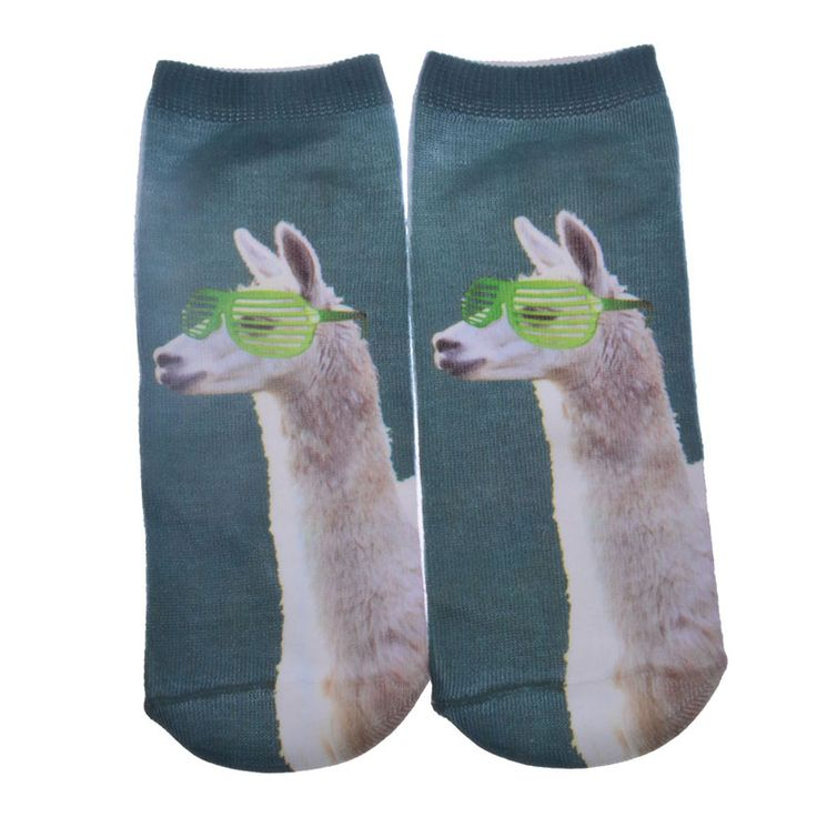 $0.68// Llama in Glasses Socks// Delivery: 2-4 weeks