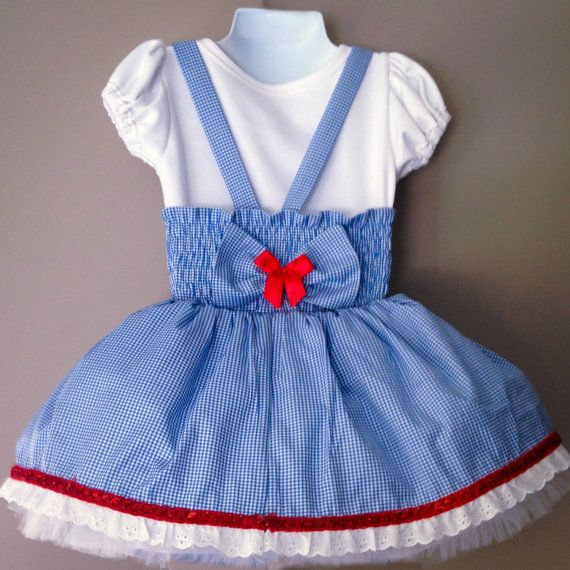 Handmade Dorothy Wizard of Oz Costume   The Wizard of Oz is known around the world. This classic tale continues to be loved by all