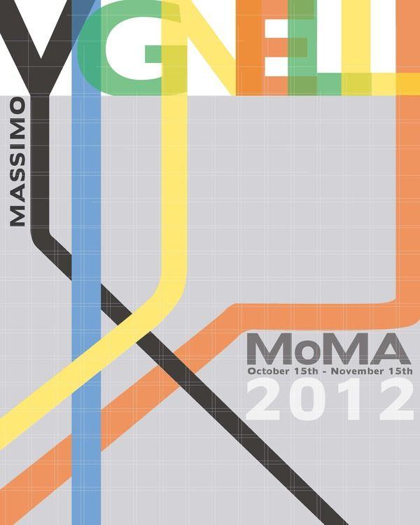 Massimo Vignelli MoMa Exhibit - Advertising Concept on Student Show