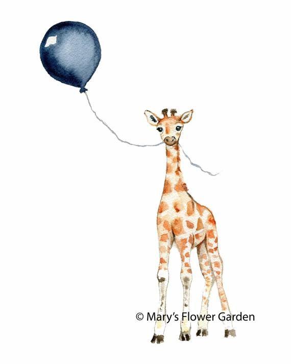 Art De Chambre De Bebe Girafe Chambre Marine Illustration A L