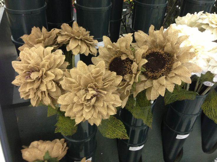 59 best burlap flowers images on Pinterest | Fabric flowers, Burlap ...