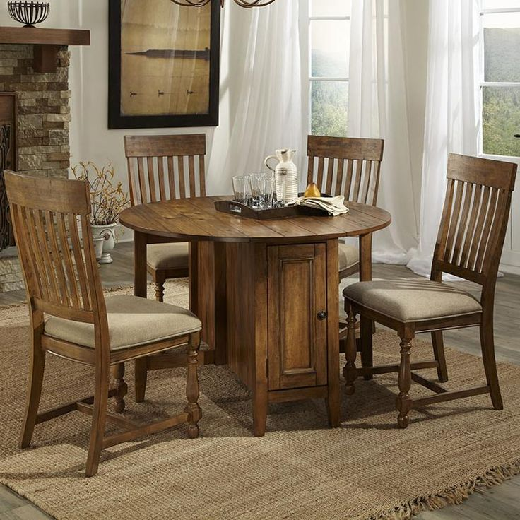 Rhone Collection Brushed Almond Dining Set Includes