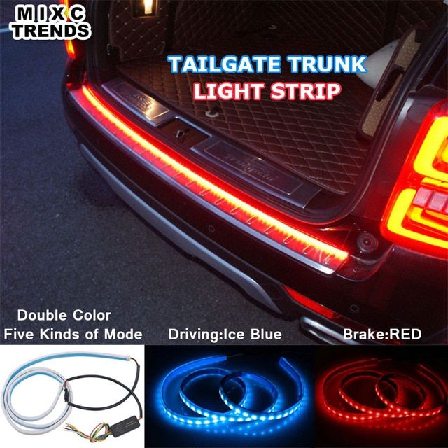 Ice Blue Red Flexible Led Strip Flowing Rear Trunk Tail Light