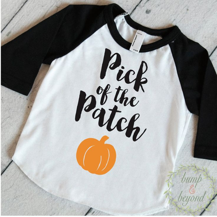 1st Halloween Shirt, Pick of the Patch, Halloween Shirt for Boys and Girls, Halloween Baby Outfit, Baby Halloween Clothes for Kids 018