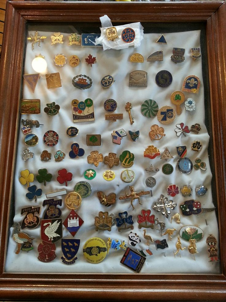 The collection of pins I have from my Guiding experiences at home and around the world represent to me the Promise I made as a 10 year old Guide and still try to live by now almost 40 years later.   Heather Martin