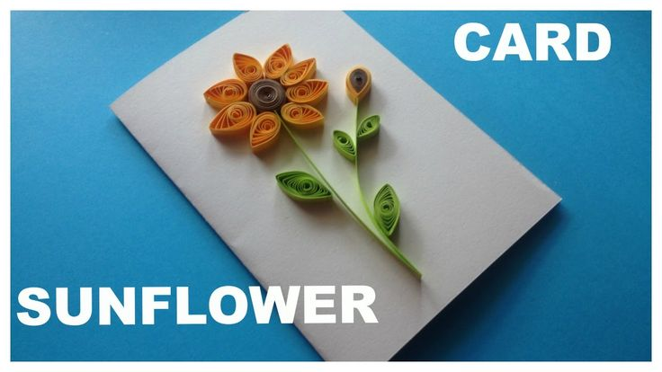 How to make quilling card | sunflower | HueTran