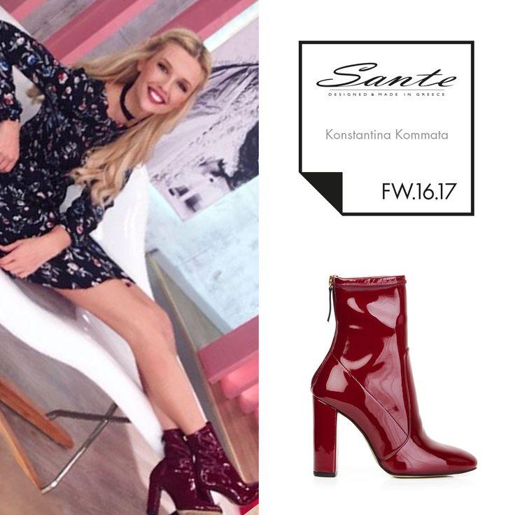 Konstantina Kommata (@konstantina_kommata) in SANTE Booties styling by Georgia Sinacheri (@sinacheri) #SanteFW1617 #CelebritiesinSante Available in stores & online (SKU-93971): www.santeshoes.com