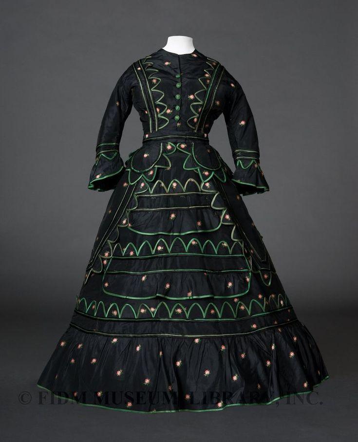Day ensemble Silk taffeta 1870-72 Gift of Anne Stampfer 94.661.1A-D