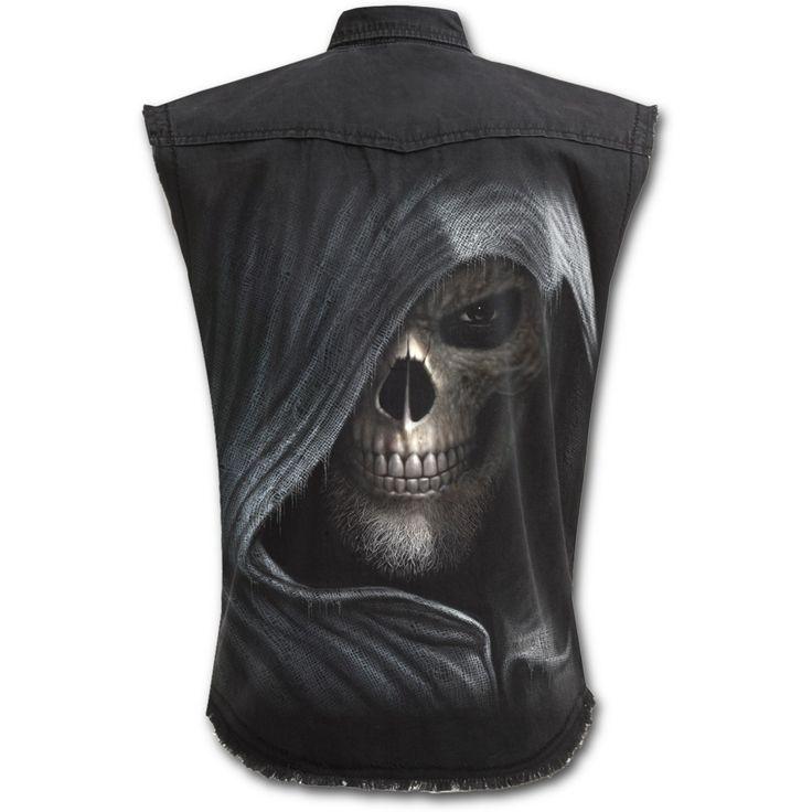 Darkness Stone Washed Workshirt http://www.highvoltageclothing.com  #clothing #steampunk #tribal #sale #goth #fashion #loveit #tattoo #musthave #biker