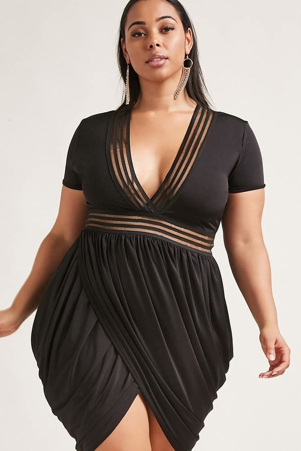 7f9cb30a5bd8 FOREVER 21+ Plus Size Shadow Stripe Dress