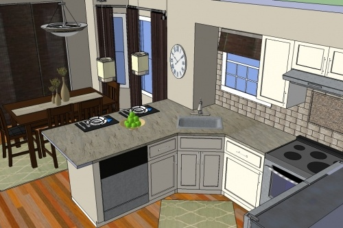 This kitchen was dated and dreary - with Oak Cabinets (gasp).  Now it's crisp, clean and colorfulDreams Big, Cabinets Gasping, Retro Redo, Modern Kitchens, Kitchens Makeovers, Oak Cabinets