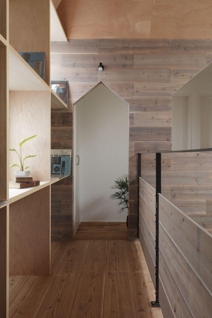 Suspended Walkway in Hazukashi House by ALTS Design STudio  Design OfficesModern  InteriorsWood InteriorsKyoto JapanModern ...