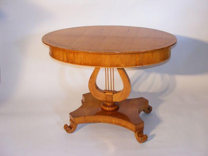 German Greek Revival Biedermeier Round Table Furniture