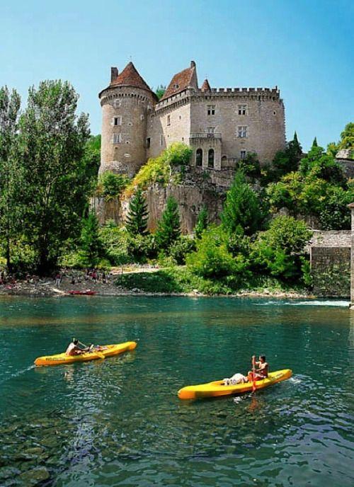 Kayaking at Cabrerets - Lot, Quercy, France.