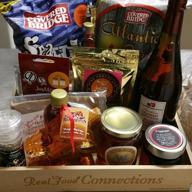 Another order for a great looking Christmas box of local items.  Betcha wish this was coming to you? Get your own local gifts at www.realfoodconnections.ca