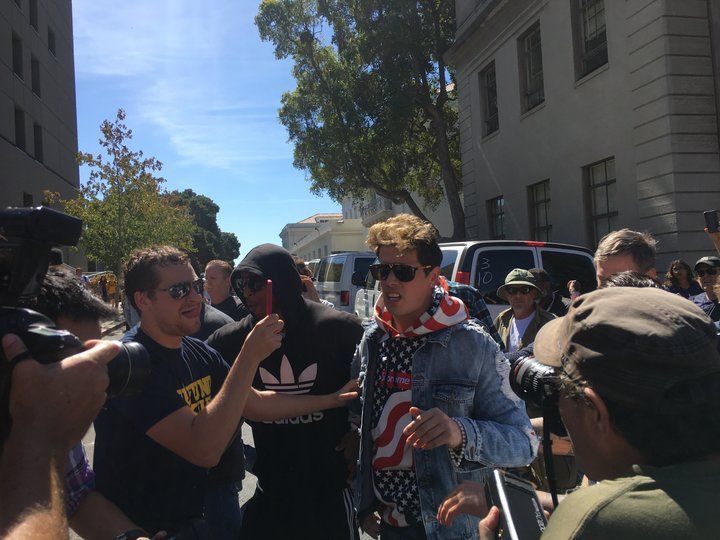 Milo Yiannopoulos Flounders At Desperate 'Free Speech' Rally On UC Berkeley Campus | HuffPost