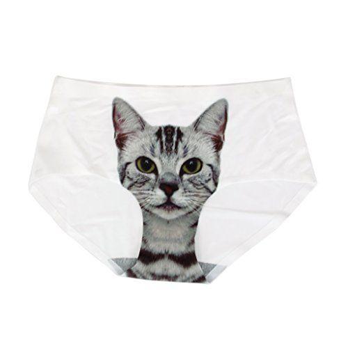 Traspirante e confortevole Molto sexy con la stampa gatto Invisible (seamless) biancheria intima, ideale per l'estate