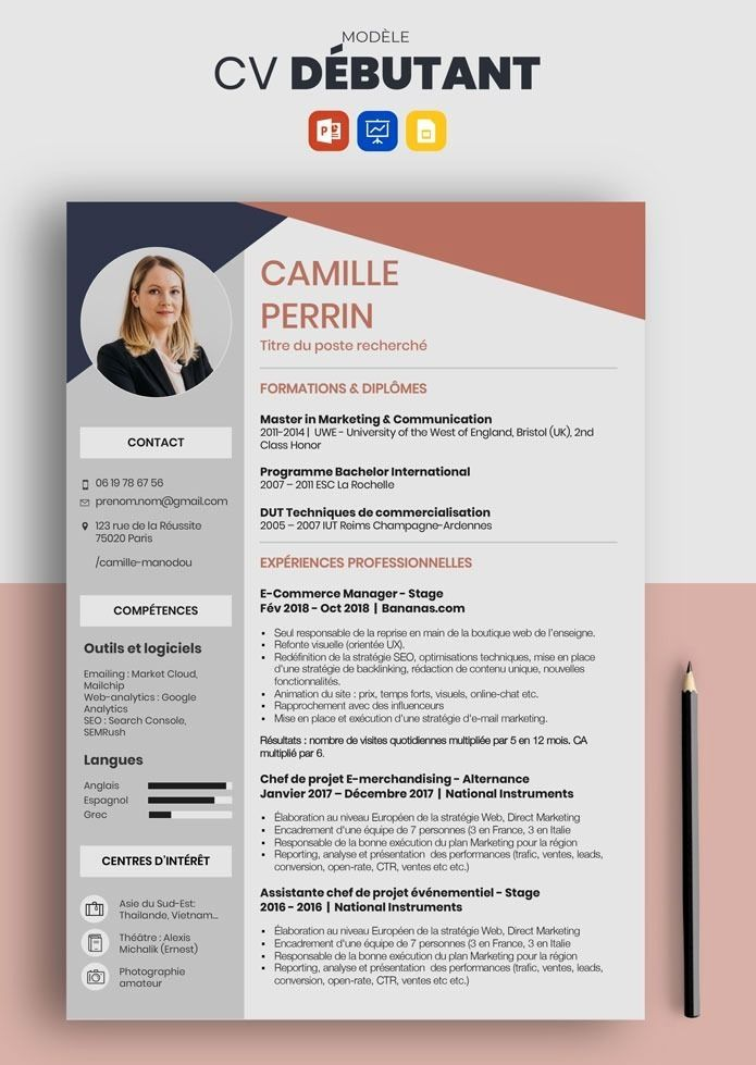 Resume Template Cv Template Professional And Creative Resume Design Cover Letter For Ms Word Modele De Cv Design Comment Faire Un Cv Modele Cv