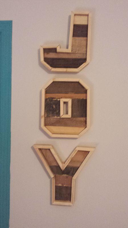 Decorative letters wall art, handmade. 45$ at www.nancy-cie.com