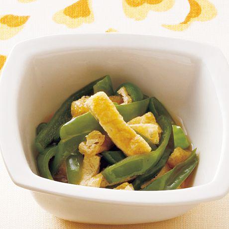 油揚げとピーマンのレンジ煮びたし | 市瀬悦子さんのおつまみの料理レシピ | プロの簡単料理レシピはレタスクラブニュース