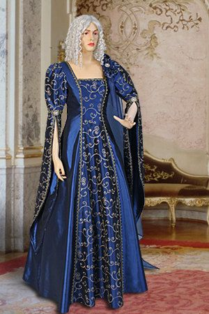 Renaissance Dress Gown Handmade from Embroidered by YourDressmaker, $186.00