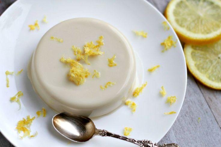 Lemon Panna Cotta (dairy free, paleo) ~ savorylotus.com