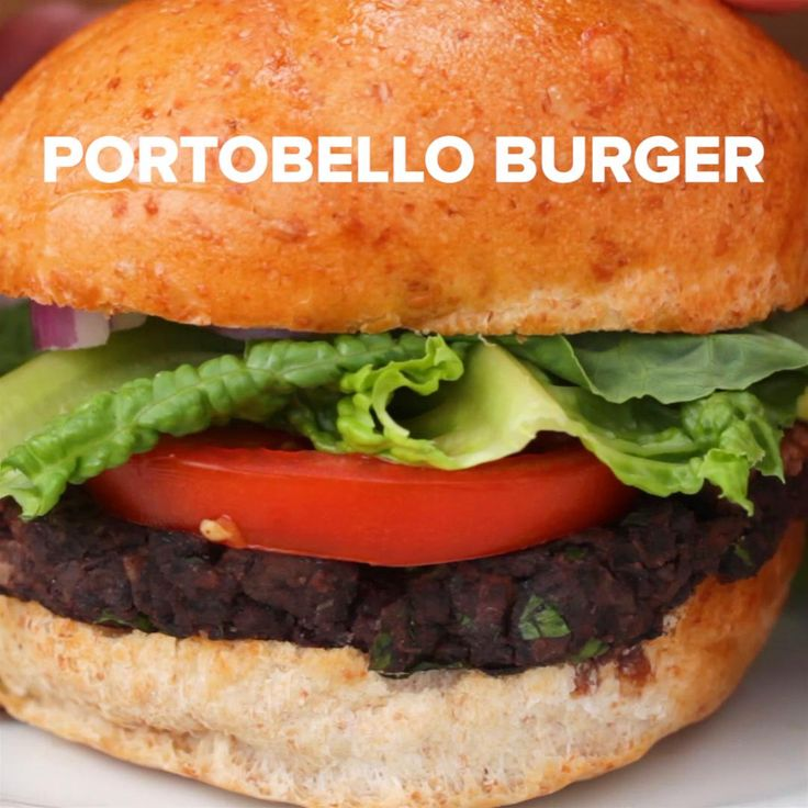Portobello Veggie Burgers Recipe by Tasty