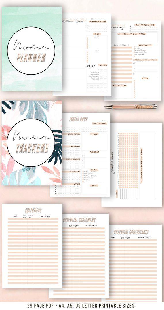 Modere Planner Printable Business Planner Printable