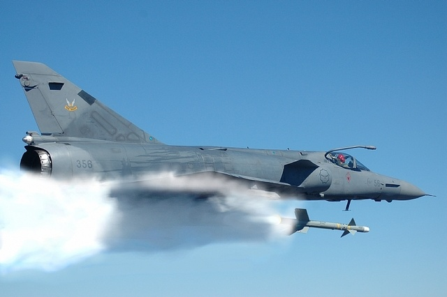 SAAF Cheetah C, firing away.