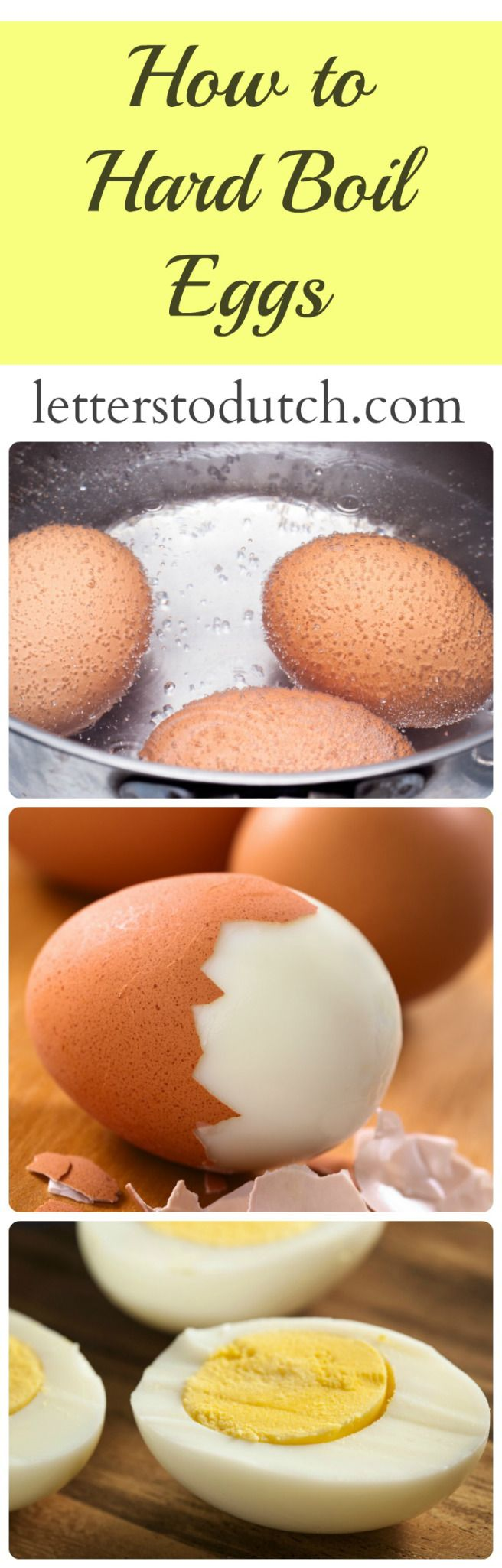 Learn how to hard boil eggs! #egg #eggs #hardboiled #protein #nutrition #sugarfree #glutenfree #healthy #delicious #yummy #easy #food #recipe #letterstodutch