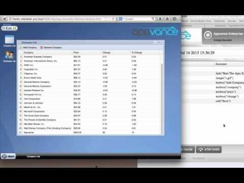 Appvance 701 - Test Authoring for Web Apps - YouTube