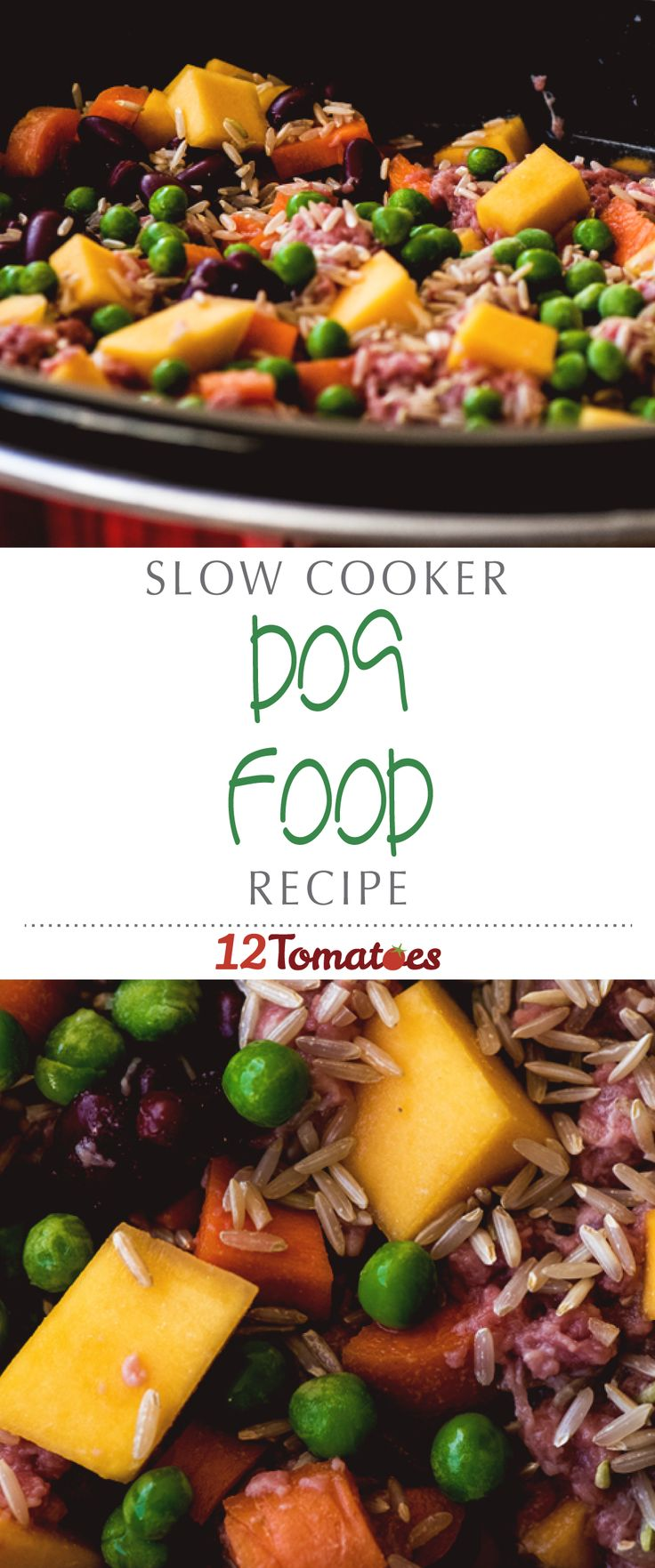 Easy Slow Cooker Dog Food | We've found the balance of ingredients that works well for our fur babies, and with a little tweaking, you'll strike the perfect balance too!
