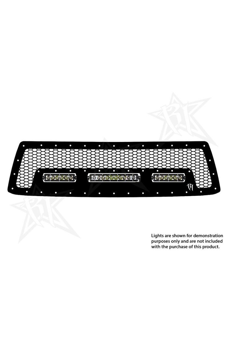 """Rigid Industries 2010-2013 Toyota Tundra SR-Series 10'' and 6"""" LED Grille"""