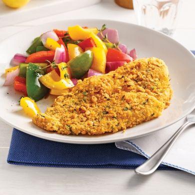 Filets de sole croustillants au fromage - Soupers de semaine - Recettes 5-15 - Recettes express 5/15 - Pratico Pratique