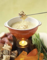 Cheese-Beer Fondue @Lindsey Roe, see, this one uses regular cheese and 1 tbsp. of flour. I think I would just try this instead of using the home made Velveeta.